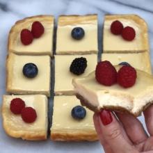 Gluten-free dairy-free Cheesecake Bars