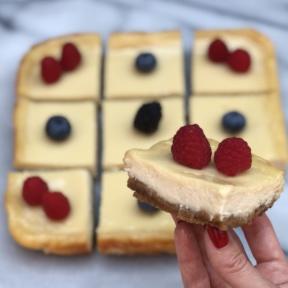 Batch of gluten-free Cheesecake Bars