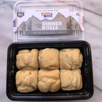 Gluten-free dinner rolls from Yumbana