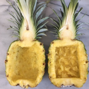Making a Smoothie in Pineapple Boats