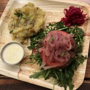 Gluten-free paleo bison burger from Food Harmonics