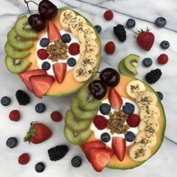 Gluten-free dairy-free Yogurt Melon Bowls