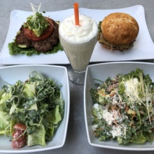 Gluten-free burgers and salads from Burger Lounge
