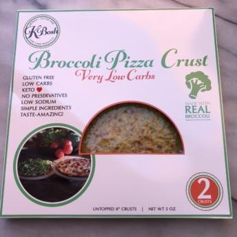 Broccoli pizza crust from KBosh Food