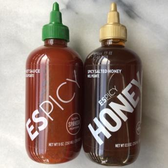 Sriracha hot sauce and honey by ESPICY