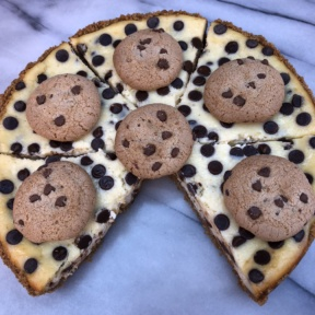 The inside of Chocolate Chip Cheesecake