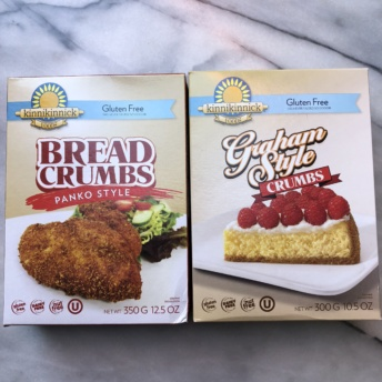 Gluten-free bread crumbs and graham style crumbs by Kinnikinnick