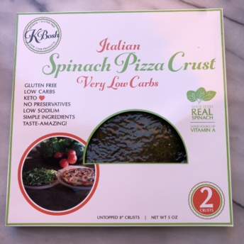 Spinach pizza crust by KBosh Food
