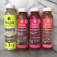 Suja juices which are non-GMO and organic