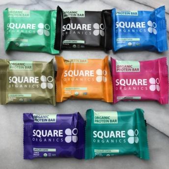Gluten-free protein bars by Square Organics