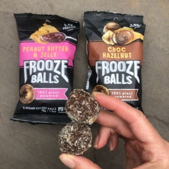 Gluten-free frooze balls at Trader Joes