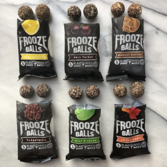 Gluten-free plant-based energy balls from Frooze Balls