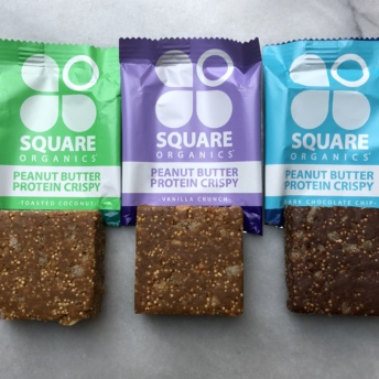 Gluten-free protein crispy bars by Square Organics