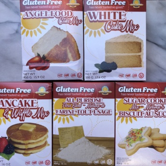 Gluten-free baking mixes by Kinnikinnick