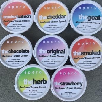 Gluten-free vegan sunflower cream cheeses by Spero Foods
