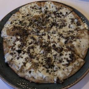 Gluten-free truffle pizza from Cafe del Rey