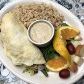 Gluten-free egg white omelet from The Spot