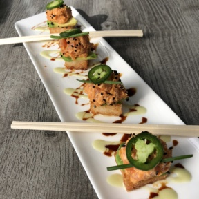Gluten-free spicy tuna on crispy rice from zinc@shade