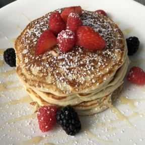 Gluten-free pancakes with berries from zinc@shade