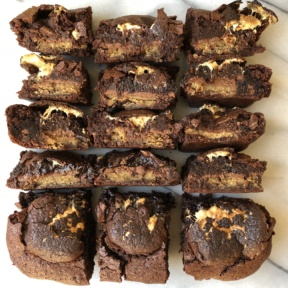 Batch of gluten-free S'mores Brownies