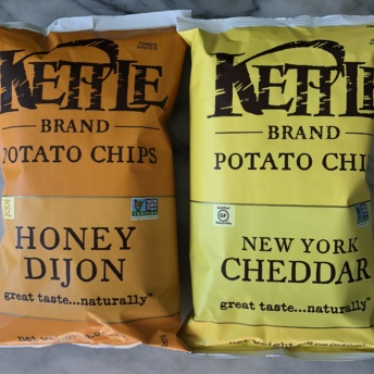 Honey dijon and cheddar chips by Kettle Brand