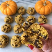 Chocolate Chip Pumpkin Cookies using ingredients from Vitacost