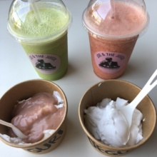 Gluten-free dairy-free yogurt bowls and juices from Joe & The Juice