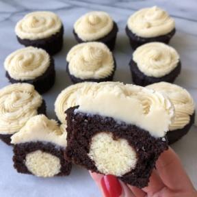 Sugar Cookie Stuffed Cupcakes