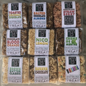 Gluten-free rice krispy treats from Makse Bar