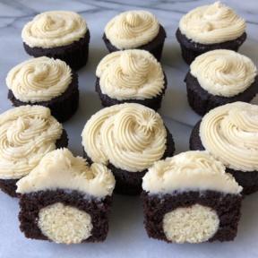 Gluten-free Sugar Cookie Stuffed Cupcakes