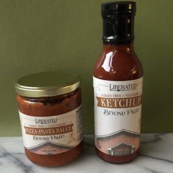 Paleo pizza-pasta sauce and ketchup by Liberated Specialty Foods
