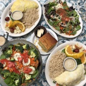 Gluten-free vegetarian lunch from The Spot