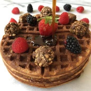 Paleo waffles with Exo Protein paleo protein bites