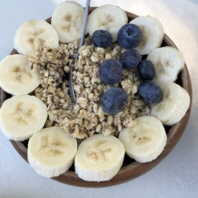 Gluten-free acai bowl from Luci's at the Orchard