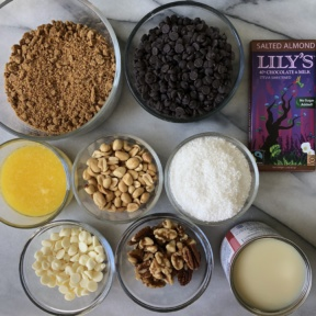 Making gluten-free Layer Bars with Lily's Sweets