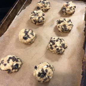 Gluten-free Chocolate Chip Oatmeal Raisin Cookies ready for the oven
