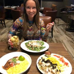 Jackie eating at Granada Bar & Grill