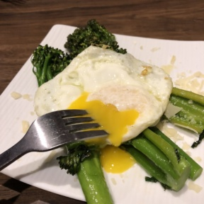 Broccolini with egg from Granada Bar & Grill