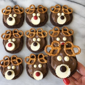 Ready to eat Chocolate Reindeer Cookies