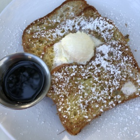 Gluten-free French toast from Luci's at the Orchard