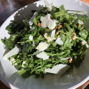 Gluten-free arugula salad from Kettle Black