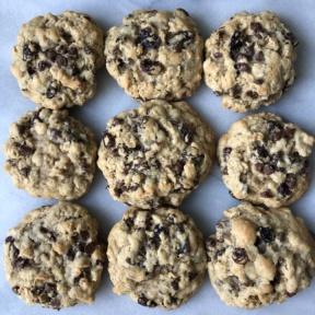 Gluten-free Chocolate Chip Oatmeal Raisin Cookies