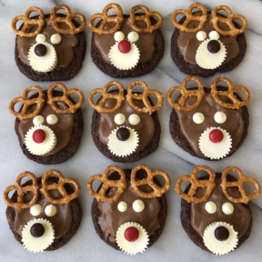 Gluten-free Chocolate Reindeer Cookies