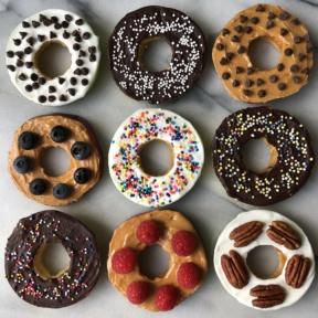 Gluten-free vegan Donut Apples