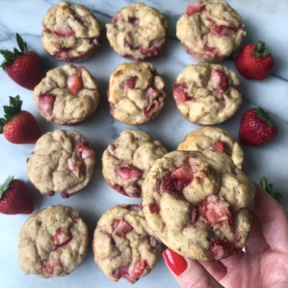 Delicious Strawberry Banana Protein Muffins
