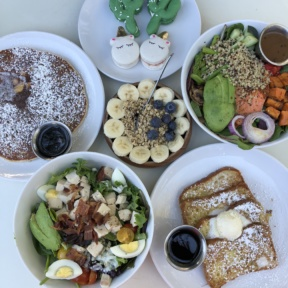 Gluten-free brunch spread from Luci's at the Orchard