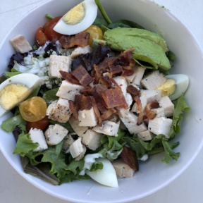 Gluten-free Cobb salad from Luci's at the Orchard