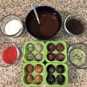 Making Chocolate Dipped Frozen Bites