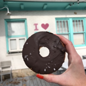 Gluten-free paleo chocolate chip donut from Five Daughters Bakery