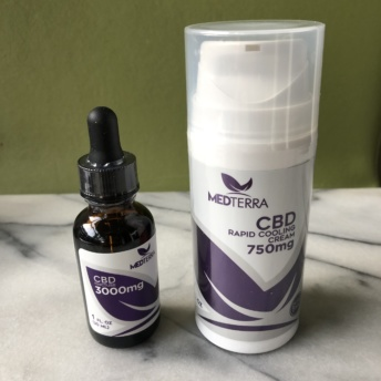 CBD cooling cream and tincture by Medterra
